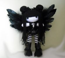This was made for a little girl i was too late to meet, but her mother is amazing and kind and giving, so i gave her a butterfly child to watch over her Kawaii Plush, Cute Plush, Felt Dolls, Plush Dolls, Mickey Mouse Art, Kawaii Crochet, Clay Art Projects, Cute Emo, Gothic Dolls
