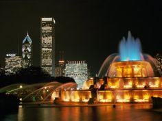 Buckingham Fountain: One of the largest in the world, the fountain was dedicated in 1927 and shoots water up to 150 feet in the air.