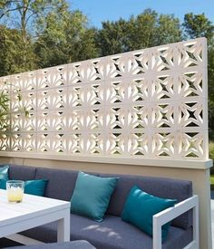 claustra en beton blanc l 40 x h 20 x p 9 cm chambre2 pinterest claustra jardins et. Black Bedroom Furniture Sets. Home Design Ideas