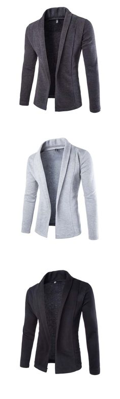 Men's Casual/Daily Simple Spring Fall Solid Long Sleeve Blazer