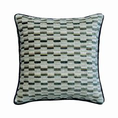 "Decorative Blue And Ivory Throw Pillow Cover, 16""x 16"" Jacquard Couch Pillow Cover Couch Pattern Pillows Modern Home Decor - Brick Together Blue Bedroom, Bedroom Decor, Velvet Pillows, Throw Pillows, Brick, Cushions, Ivory, Decor Ideas, Couch"