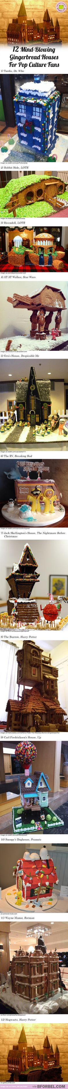 12 Mind-Blowing Gingerbread Houses For Pop Culture Fans…