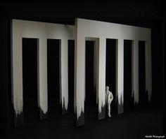 Macbeth (Model). Gaiety Theatre, Dublin and Opera Ireland. Scenic design by Ferdia Murphy. 2009
