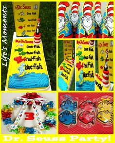 Dr.Seuss Party! #Dr.Seuss #One Fish Two Fish Red Bish Blue Fish #Party