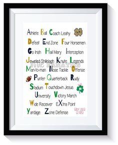Notre Dame Alphabet Art Print by LittleFanatics on Etsy