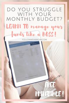 Conquer the monthly budget struggle with this free printable.