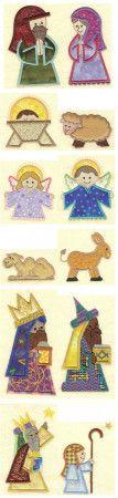 Nativity Applique Machine Embroidery Designs   Designs by JuJu