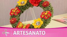 Vida com Arte | Guirlanda com flores diversas por Yvone Lobato - 11 de N...