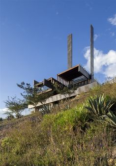 This extraordinary moderm house design by Daniel Moreno Flores and José Maria Saez Vaquero Arquitectura is located in Puembo, Ecuador. The property was built in 2011.