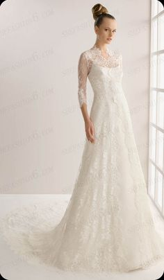 http://www.shefashion6.com                       Item 2012B0023   2012 Long Sleeve Sweep Floor A Line Lace Wedding Dress; Real top fabric, competitive price!!!