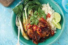 Sticky chilli and lemongrass caramel chicken