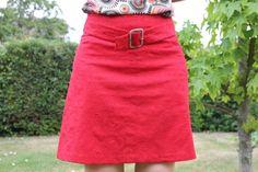 jupe en lin rouge