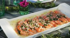 Quick Cured Salmon with Elderflower, Dill and Roasted Garlic Mayonnaise (New Scandinavian Cooking)