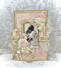 Cathrines hjerte. Card made with papers from Pion Design.
