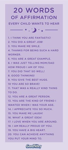If your child is a frequent bedwetter, then this collection of words of affirmation could go a long way in boosting his self esteem. Let your kid know that nighttime bedwetting isn't something that he can control and that he'll grow out of it eventually. Affirmations For Kids, Positive Affirmations, Self Esteem Affirmations, Positive Phrases, Quotes Positive, The Words, Kids And Parenting, Parenting Hacks, Gentle Parenting Quotes