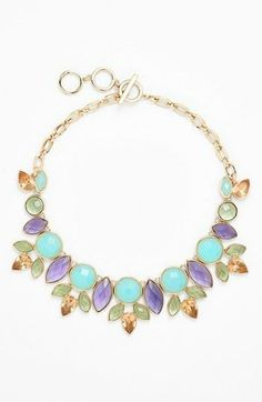 Pretty pastels for spring | Bib necklace