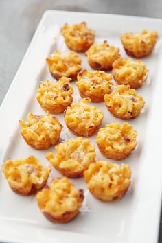 Three-Cheese Mini Macaroni and Cheese Bites.