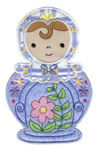 Embroidery | Free Machine Embroidery Designs | Bunnycup Embroidery | Russian Dolls