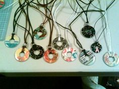 Lots of Free Jewelry Making Tutorials & Lessons: Fun To Make Washer Necklaces!