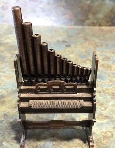 Vintage Brass Cast Pipe Organ Pencil Sharpener by LeftoverStuff