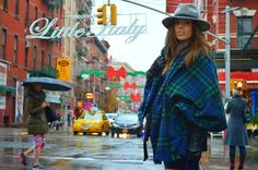 little italy, NY, streetstyle, borsalino , capa , cuadros ,new york city , blogger