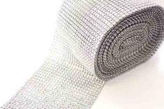 Diamante wrap by the metre - Silver