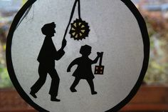 cute idea for a transparency for a Martinmas lantern