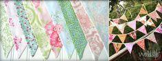 Vintage-Wimpelketten für Hochzeit mieten| weddstyle