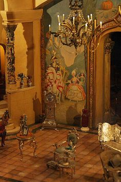 Colleen Moore's Fairy Castle, at Chicago's Museum of Science and Industry, Cinderella's drawing room [2nd of five pins]