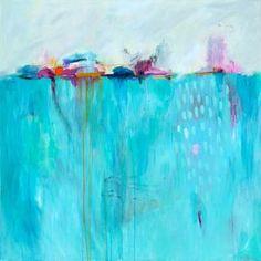 Coastal wall art abstract art abstract painting by SarinaDiakosArt Blue Abstract Painting, Abstract Canvas Art, Canvas Art Prints, Painting Prints, Fine Art Prints, Abstract Paintings, Art Original, Original Paintings, Art Du Monde