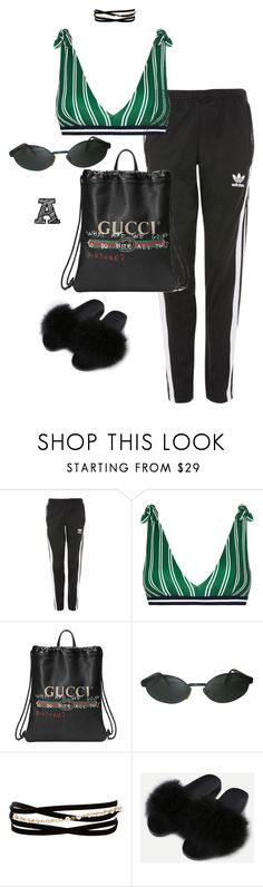 """Untitled #484"" by fashionmahlo ❤ liked on Polyvore featuring Topshop, Rye, Gucci, Persol and Kenneth Jay Lane"
