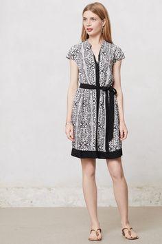 Odilia Shirtdress (black and white print) - Anthropologie.