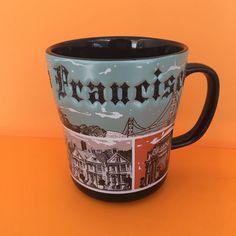 San Francisco Americaware Golden Gate Bridge Mystery House Stoneware Coffee Cup