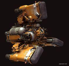 "Heavy Space Tug ""Gordon"" by Paul Pepera Spaceship Art, Spaceship Design, Spaceship Concept, Robot Concept Art, Environment Concept Art, Concept Cars, Sci Fi Spaceships, Sci Fi Models, Sci Fi Ships"