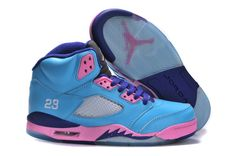 Womens Air Jordan 5 Retro Buy Now Blue Pink Purple