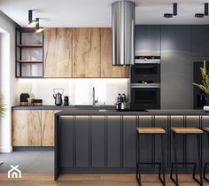 Kitchen Room Design, Kitchen Cabinet Colors, Modern Kitchen Design, Interior Design Kitchen, Diy Kitchen, Kitchen Cabinets, Home Building Design, House Design, Cuisines Design