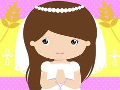 Resultado de imagen para imagenes de niña de primera comunion