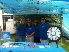 Home Savings' Columbiana Office staff hosted our tent at River Rock at the Amp last weekend. This weekend the folks from our Liberty office will be there, stop by and spin the prize wheel! Buy this Prize Wheel at http://PrizeWheel.com/products/tabletop-prize-wheels/mini-clicker-prize-wheel/.