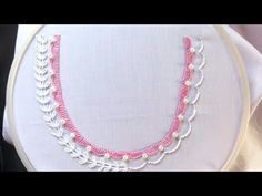 Hand embroidery. Neck design for dresses and blouses. Hand embroidery stitches. - YouTube