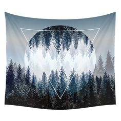 Moon Tapestry Wall Tapestry Wall Hanging Tapestries Sunset Forest Tapestry Ocean Mountains Tapestry Art Nature Tapestry for Men Home Dorm Decor 82 x 59 Inches Tapestry Beach, Indian Tapestry, Bohemian Tapestry, Mandala Tapestry, Tapestry Wall Hanging, Wall Hangings, Moon Mandala, Mandala Throw, Tapestry Bedroom