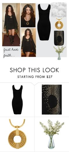 """Behind the scenes at Late Show"" by nasti-girl ❤ liked on Polyvore featuring even&odd, Forever Unique, Lara Bohinc, Shabby Chic and selena gomez"