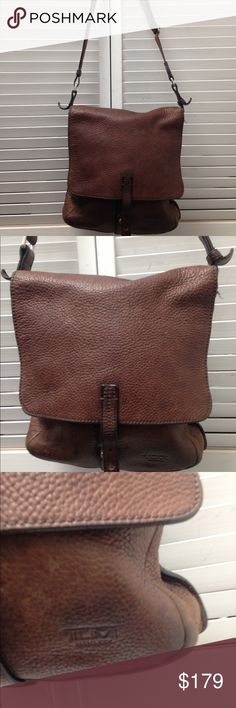 TUMI brown Leather crossbody bag TUMI brown Leather cross body bag Tumi Bags Crossbody Bags
