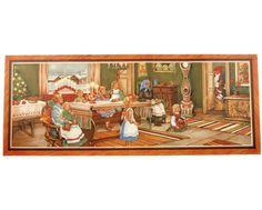 Väggfriser i papper JUL från - Bloomsbury Barn Bloomsbury, Yule, Vintage Christmas, Beautiful Places, Barn, Retro, God Jul, Painting, Illustration