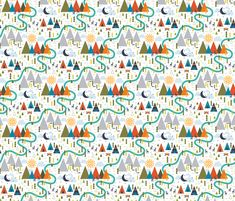 Mountain Wigwam (Boy) fabric by katerhees on Spoonflower - custom fabric-- peel and stick wallpaper