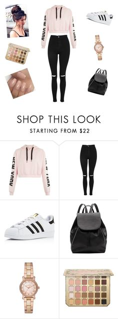 """""""Snazzy outfit"""" by sarahdancer22 ❤ liked on Polyvore featuring Topshop, adidas, Witchery and Michael Kors"""