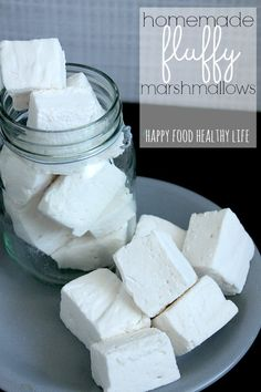 Homemade Fluffy Marshmallows... a MILLION times better than store-bought!  // Happy Food Healthy Life
