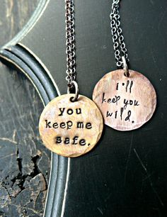ON SALE Hand Stamped Matching Sister Necklaces Soul Sister