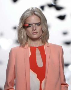 Seen on DVF runway for Spring 2013... Glasses developed by google founder, turn eye ware into tech that would rival your smartphone! Already seen on SJP!!! ~jgs