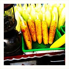 Corn on a cob, food stall Bali by Clair Miller photobasket instagram