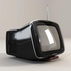 brionvega algol tv 3d max - Brionvega Algol TV... by Mu3y